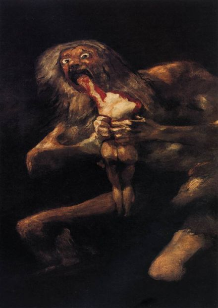 Goya, Francisco de: Saturn Devouring his Son. Fine Art Print/Poster. Sizes: A4/A3/A2/A1 (0022)